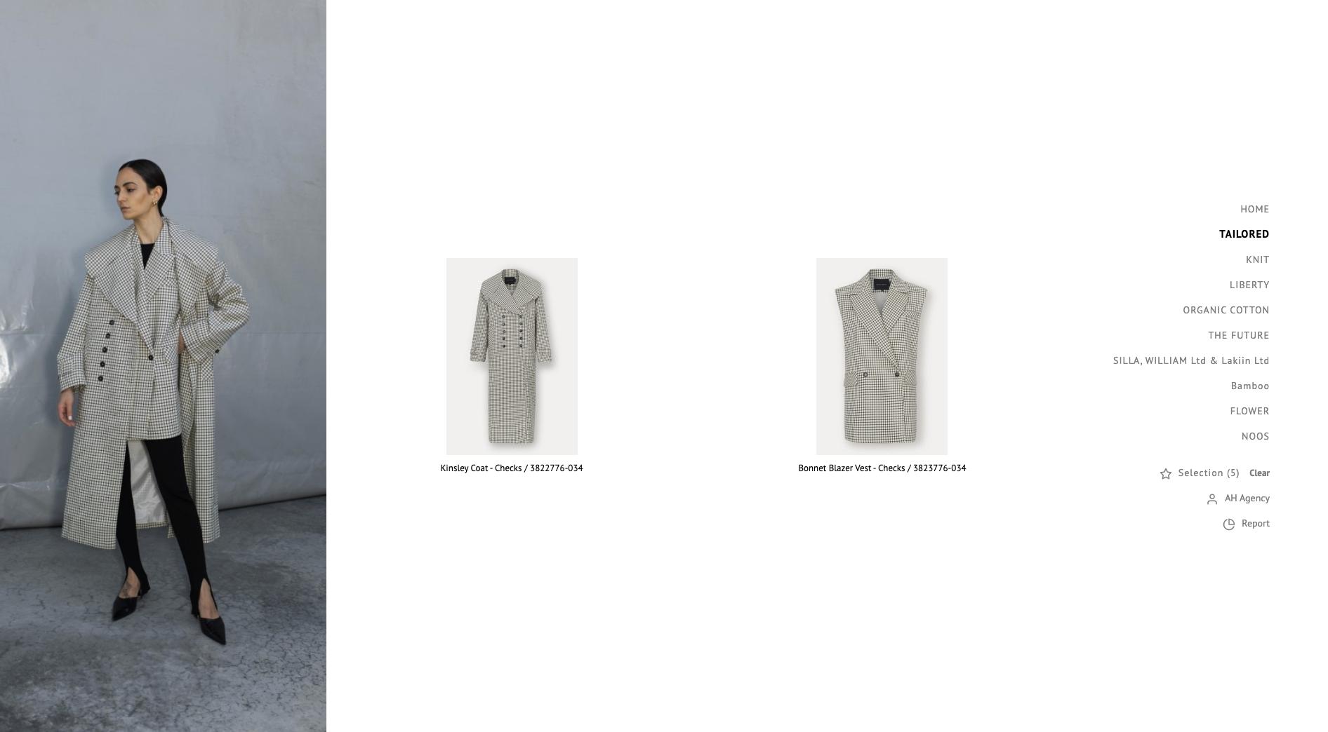 Birgitte Herskind use traede virtual showroom showcasing shirt