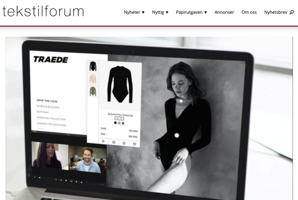 Traede and tekstil forum about partnership with virtual showroom