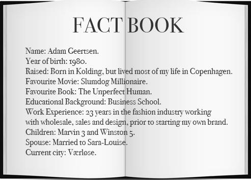 Adam Geertsen from A Kjærbede Fact Book