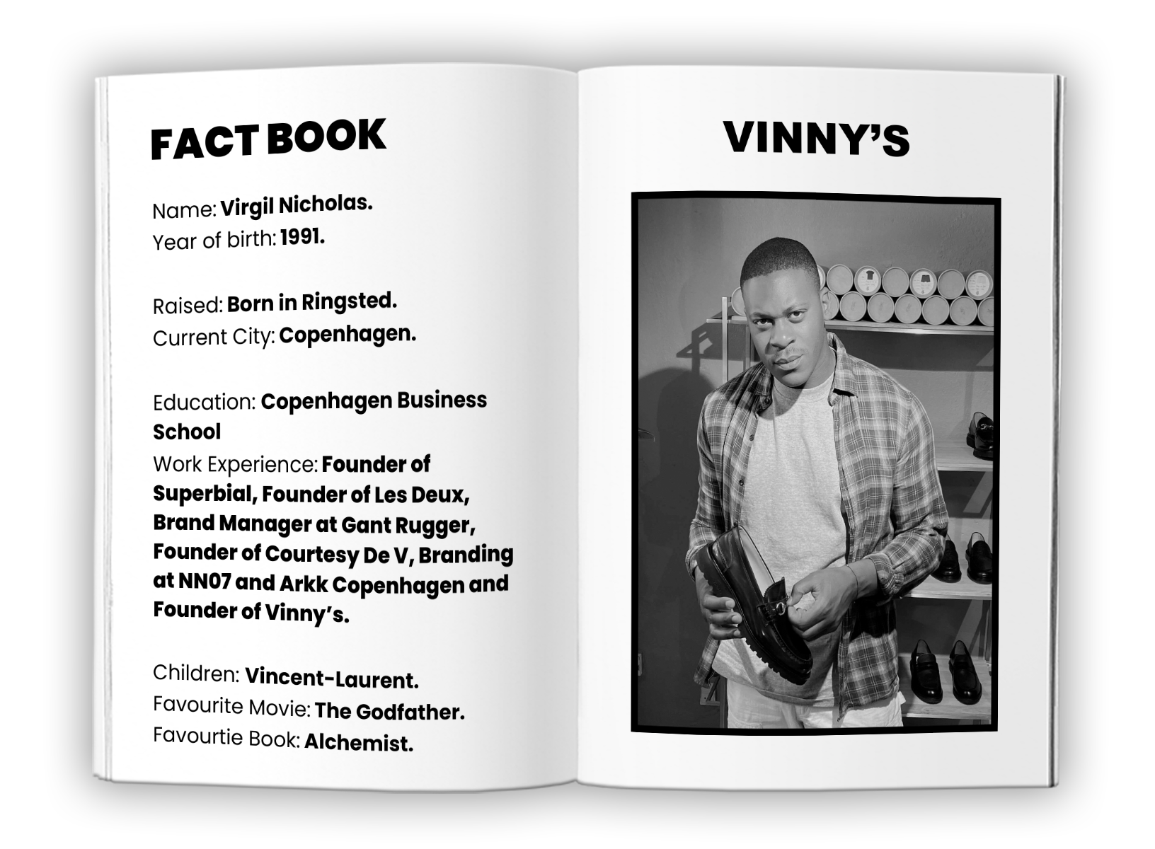 Vinny's using Traede fact book